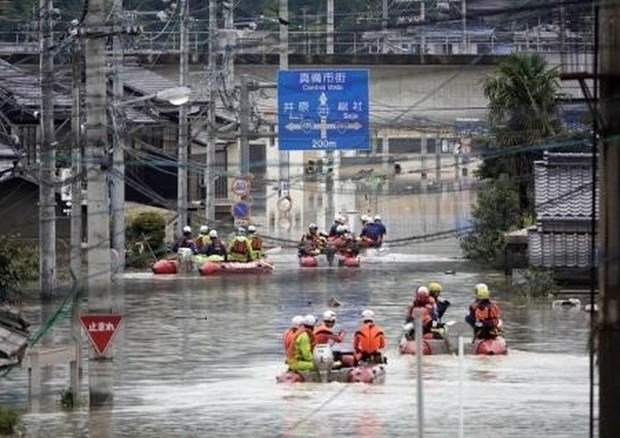 Inondations et glissement de terrain : message de sympathie au Japon hinh anh 1