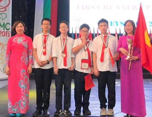Maths: le Vietnam brille au BIMC 2018 en Bulgarie hinh anh 1