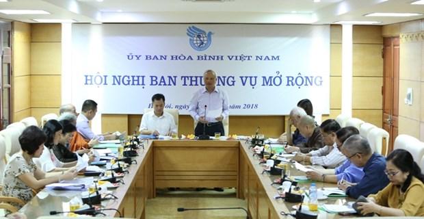 Intensification des activites de solidarite avec les organisations internationales de la paix hinh anh 1
