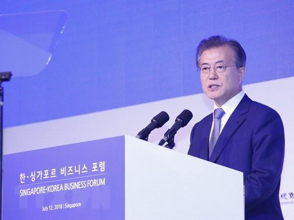 Le president sud-coreen apprecie le role de l'ASEAN hinh anh 1