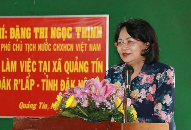 La vice-presidente Dang Thi Ngoc Thinh rend hommage aux morts pour la Patrie a Dak Nong hinh anh 1
