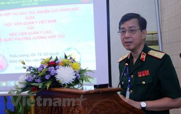 Le Vietnam et le Laos renforcent leur cooperation dans la medecine militaire hinh anh 1