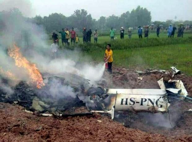 Un crash d'helicoptere fait au moins trois en Thailande hinh anh 1