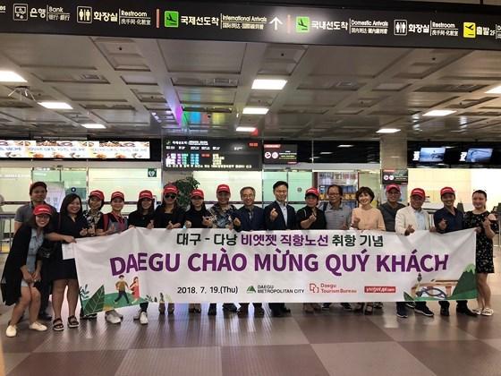 Ouverture de la ligne aerienne directe Da Nang-Daegu (Republique de Coree) hinh anh 1