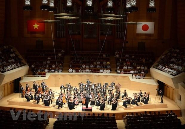 Concert en l'honneur des 45 ans des relations diplomatiques Vietnam-Japon hinh anh 1