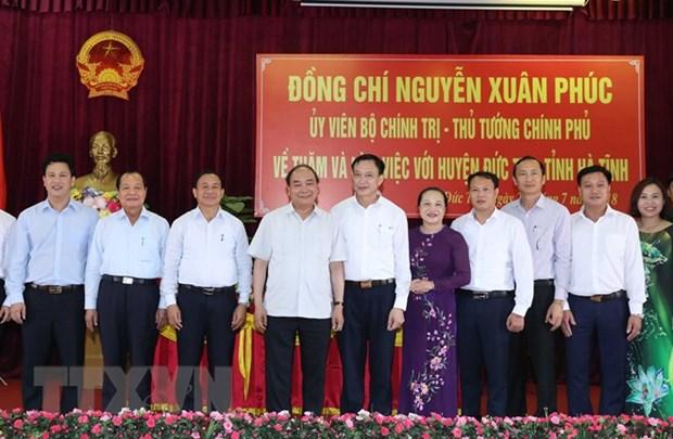 Le Premier ministre Nguyen Xuan Phuc en visite de travail a Ha Tinh hinh anh 1