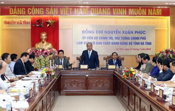Le PM exhorte Ha Tinh a s'orienter vers le developpement durable hinh anh 1