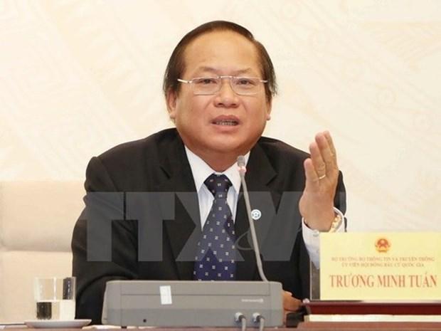 Le ministre de l'Information et de la Communication Truong Minh Tuan suspendu de ses fonctions hinh anh 1