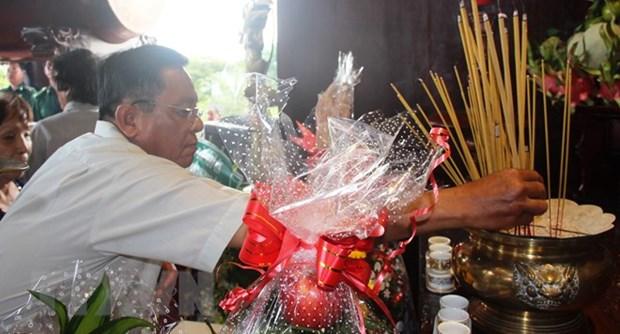 Ceremonie religieuse en memoire des jeunes volontaires morts pour la Patrie de HCM-Ville hinh anh 1