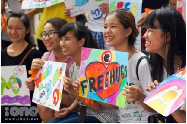 Free Hugs, la fete des calins gratuits a Ho Chi Minh-Ville hinh anh 1
