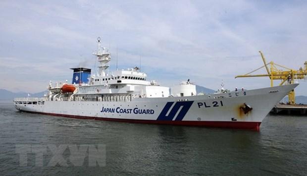 Le navire-ecole de la garde-cote japonaise Kojima jette l'ancre a Da Nang hinh anh 1