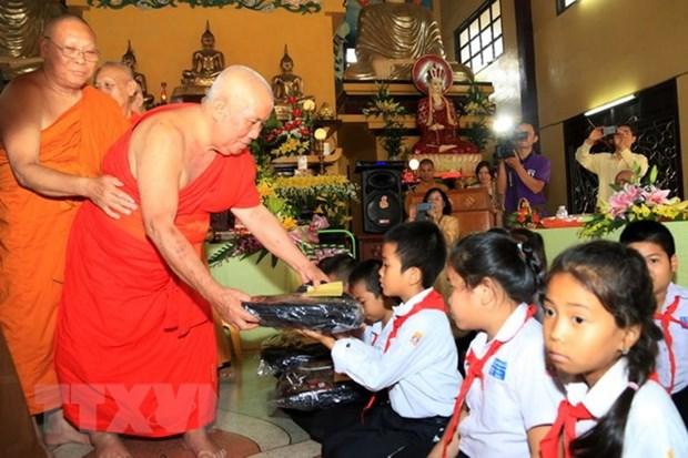 Ouverture d'une classe d'enseignement du vietnamien et du laotien a Vientiane hinh anh 1
