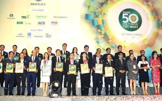 Forbes Vietnam honore les 50 premieres societes cotees hinh anh 1