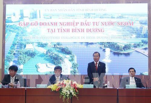 Dialogue avec des entreprises a participation etrangere a Binh Duong hinh anh 1