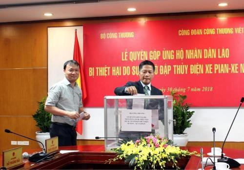 Poursuite des aides au Laos apres l'effondrement du barrage Xepian-Xe Namnoy hinh anh 1