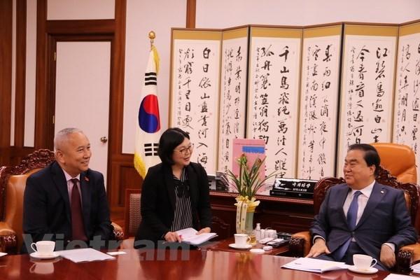 Le president de l'AN sud-coreenne souligne le role du Vietnam hinh anh 1