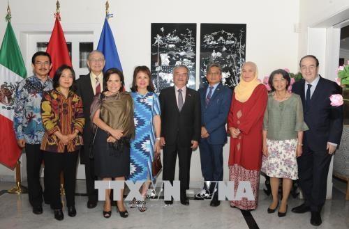 Celebration des 23 ans d'adhesion du Vietnam a l'ASEAN au Mexique hinh anh 1