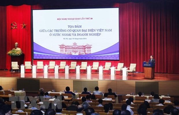 Reunion entre diplomates et entreprises a Hanoi hinh anh 1