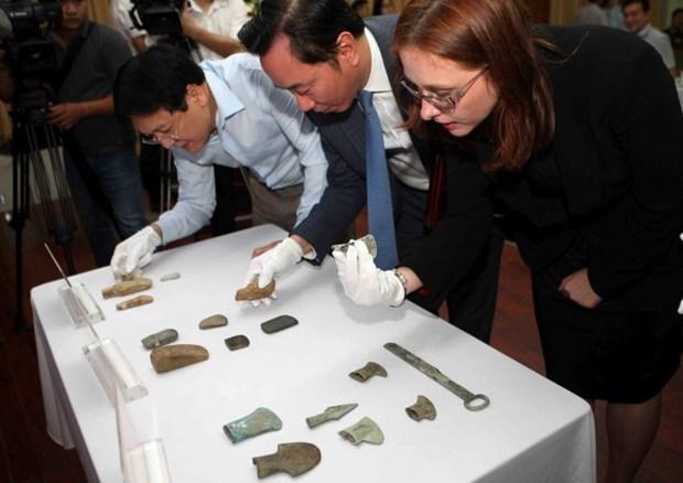 Dix-huit antiquites vietnamiennes conservees en Allemagne rapatriees hinh anh 1