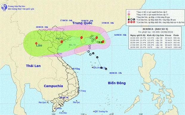 Le typhon Bebinca pourrait s'abattre sur le littoral du Nord-Est hinh anh 1