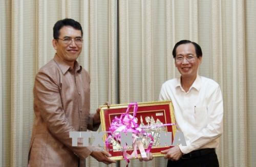 Une delegation du ministere laotien des Sciences et des Technologies en visite a HCM-Ville hinh anh 1
