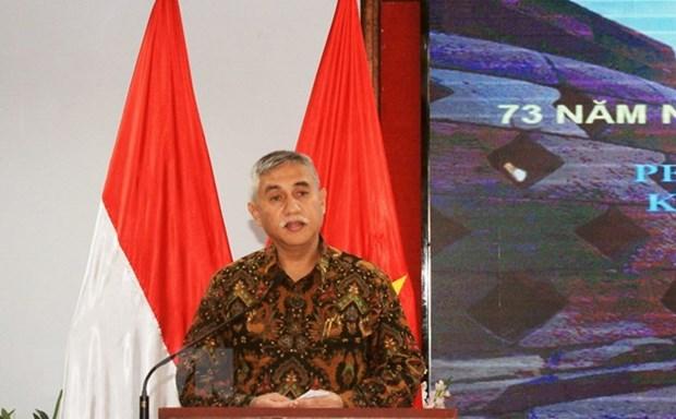 Celebration de la Journee de l'independance de l'Indonesie a HCM-Ville hinh anh 1