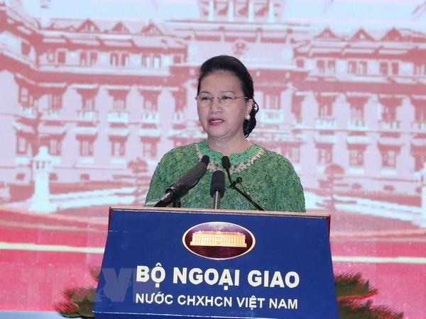 La presidente de l'AN assiste a une seance pleniere de la 30e conference diplomatique hinh anh 1
