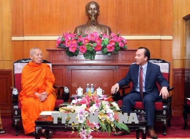 Bouddhisme : le Vietnam et le Laos intensifient la cooperation hinh anh 1