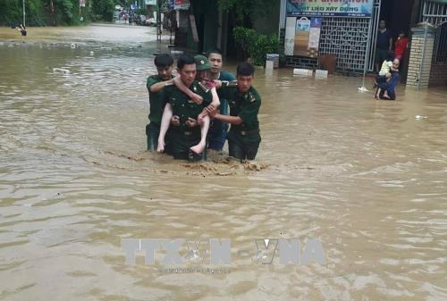 Le typhon Bebinca fait des ravages dans des localites du Nord et du Centre hinh anh 1