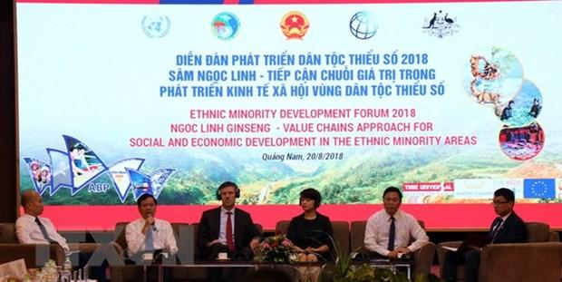 Forum sur le developpement des ethnies minoritaires 2018 a Quang Nam hinh anh 1
