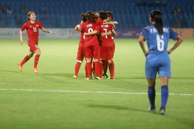 Football feminin: le Vietnam se qualifie pour les quarts de finale des ASIAD 2018 hinh anh 1