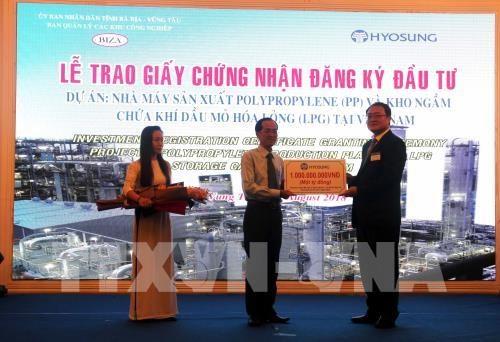 La R. de Coree investit plus de 1,2 milliard de dollars a Ba Ria-Vung Tau hinh anh 1