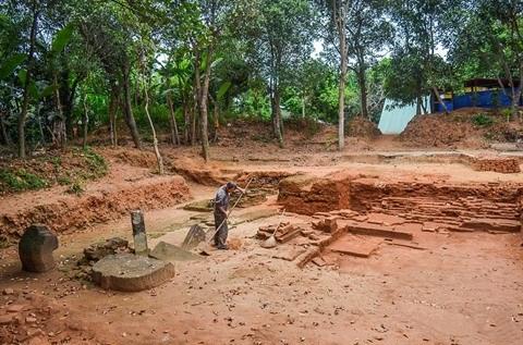 Da Nang: decouverte de vestiges Cham dans le village de Phong Le hinh anh 1