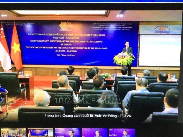 Hai Phong: celebration de l'etablissement des relations diplomatiques Vietnam-Singapour hinh anh 1