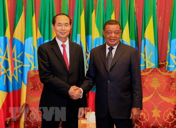 Les visites du president vietnamien en Ethiopie et en Egypte couronnees de succes hinh anh 1