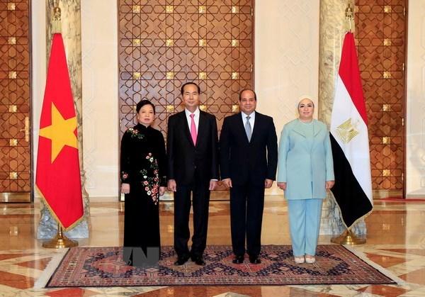 Les visites du president vietnamien en Ethiopie et en Egypte couronnees de succes hinh anh 2
