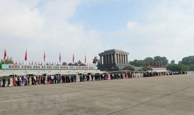 Plus de 38 600 personnes visitent le mausolee du President Ho Chi Minh hinh anh 1