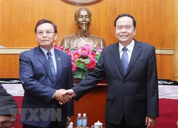 Vietnam-Laos : promotion de la cooperation entre les Fronts hinh anh 1