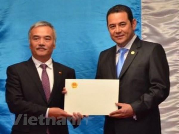 Le president du Guatemala salue le developpement rapide et durable du Vietnam hinh anh 1