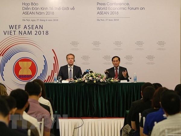Le Vietnam fin pret pour le WEF ASEAN 2018 hinh anh 1