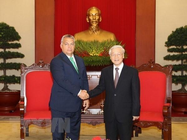 La visite du leader du PCV en Hongrie promeut les relations bilaterales hinh anh 1