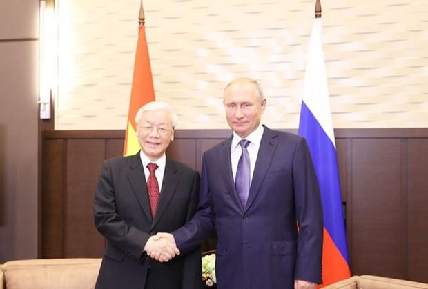 Declaration commune sur les resultats de la visite officielle en Russie du leader du PCV hinh anh 1
