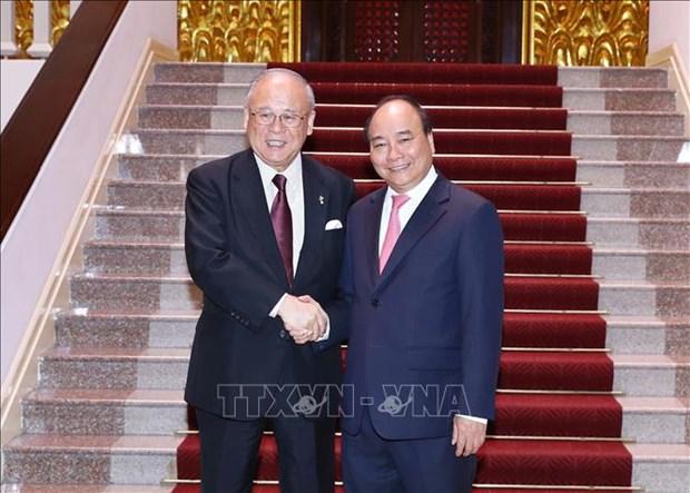 Le PM recoit le conseiller special de l'Alliance parlementaire d'amitie Japon-Vietnam hinh anh 1