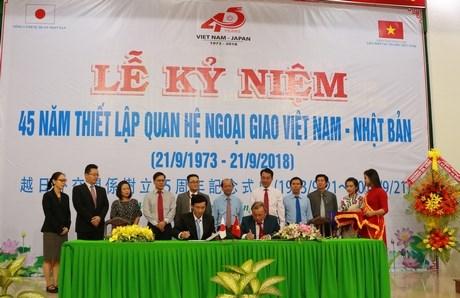 Celebration des 45 ans des relations diplomatiques Vietnam - Japon a Vinh Long hinh anh 1