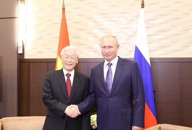 Les medias russes soulignent la signification de la visite du secretaire general du PCV hinh anh 1