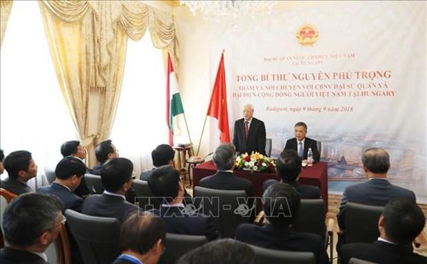 Nguyen Phu Trong se rend a l'ambassade du Vietnam en Hongrie hinh anh 1