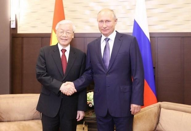 Les visites du leader du PCV creent un nouvel elan pour les relations avec la Russie et la Hongrie hinh anh 1