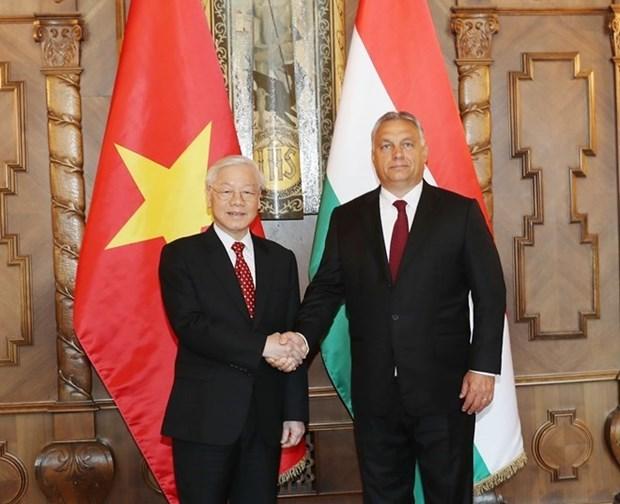 Les visites du leader du PCV creent un nouvel elan pour les relations avec la Russie et la Hongrie hinh anh 2