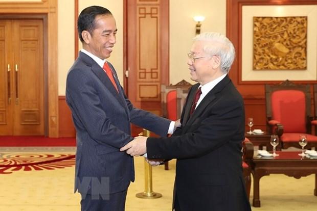 Des dirigeants recoivent le president indonesien Joko Widodo hinh anh 1