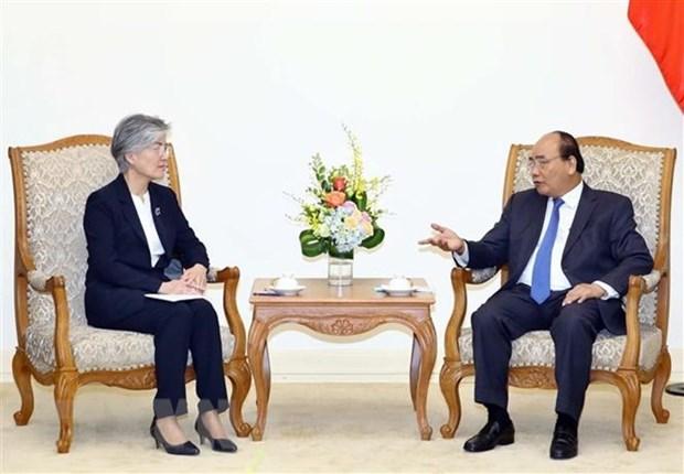 Le PM Nguyen Xuan Phuc recoit la ministre sud-coreenne des AE Kang Kyung-wha hinh anh 1